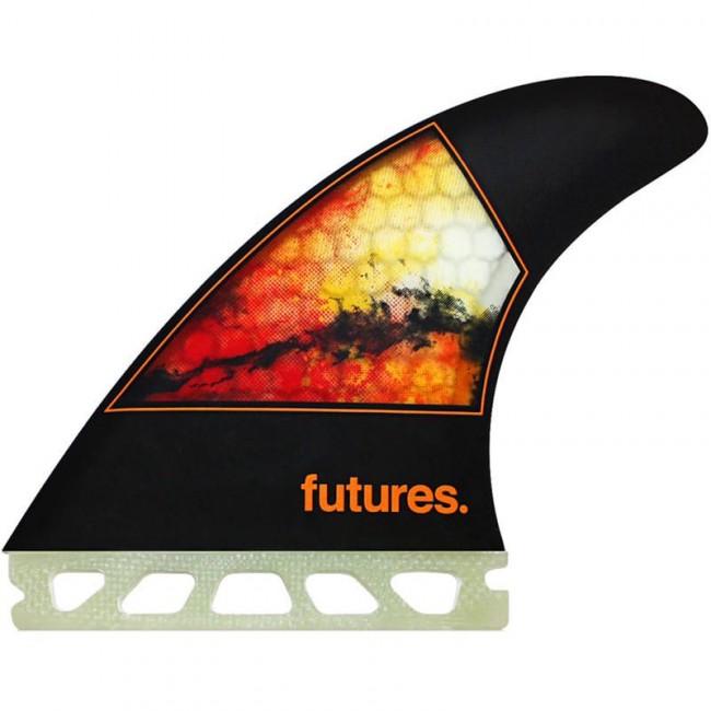 501e371ab00d Futures Fins Jordy Smith HC Medium Tri Fin Set - Black/Orange - Cleanline  Surf