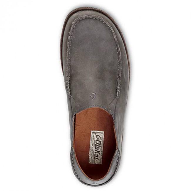 6a84a7666fd Olukai Moloa Shoes - Storm Grey Dark Wood - Cleanline Surf