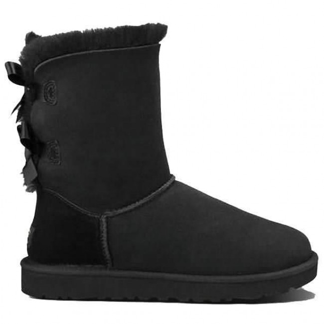 Ugg Australia Bailey Bow Boots Black Cleanline Surf