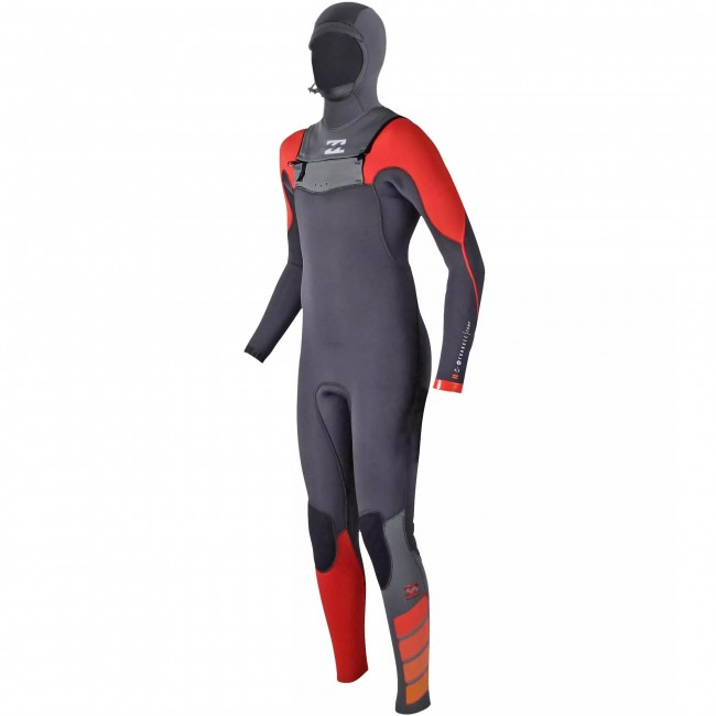 Billabong Youth Furnace Carbon Comp 5 4 Hooded Wetsuit