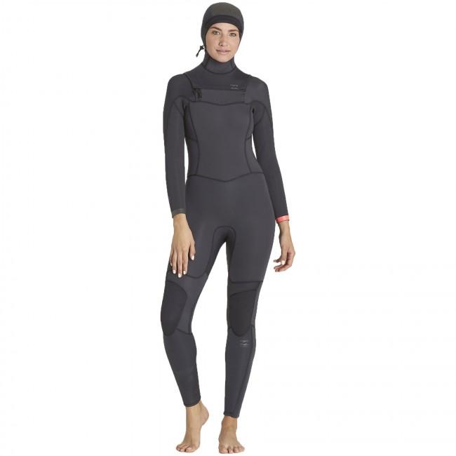 e7d5c4299d Billabong Women s Synergy 5 4 Hooded Wetsuit - 2016 - Cleanline Surf