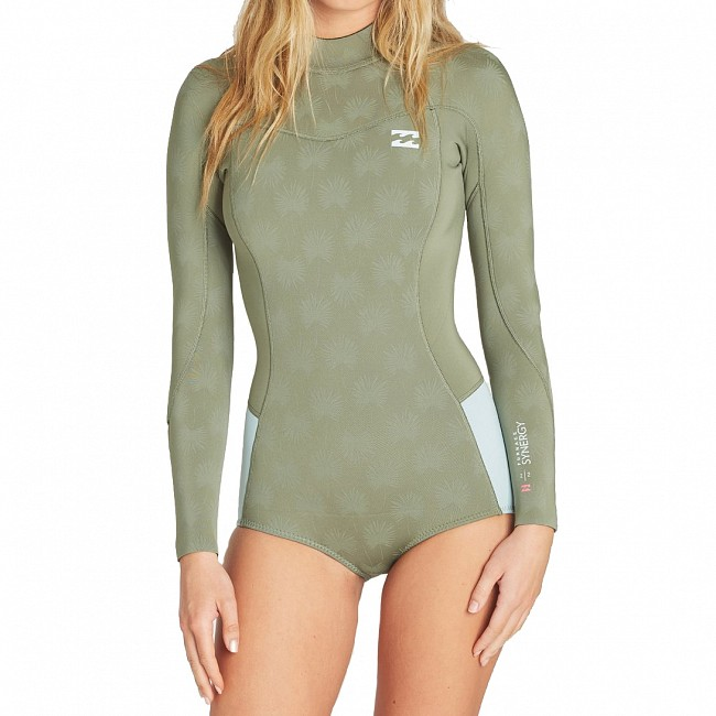 Billabong Women's Synergy 2mm Long Sleeve Back Zip Spring Wetsuit