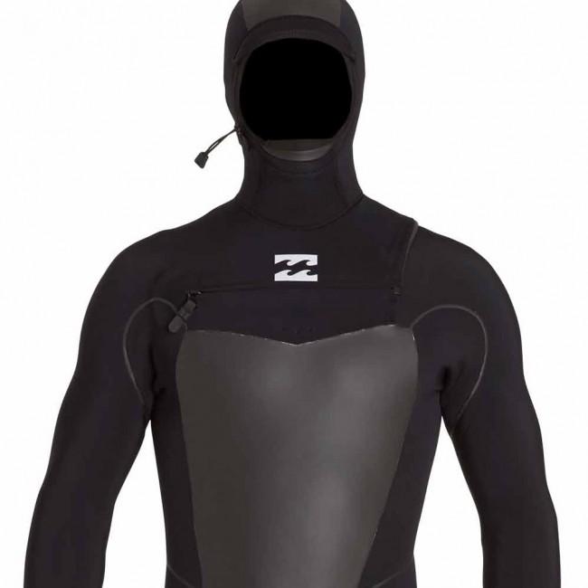 Billabong Furnace Carbon X 5 4 Hooded Chest Zip Wetsuit