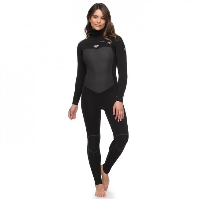 d39d4df513 Roxy Women's Performance 5/4/3 Hooded Chest Zip Wetsuit