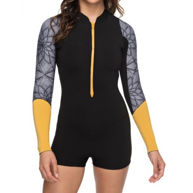 Roxy Women s Pop Surf 2mm Short Sleeve Spring Wetsuit - Cleanline Surf a4ef5c30647