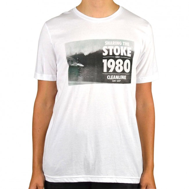 Cleanline Anniversary T Shirt White Cleanline Surf