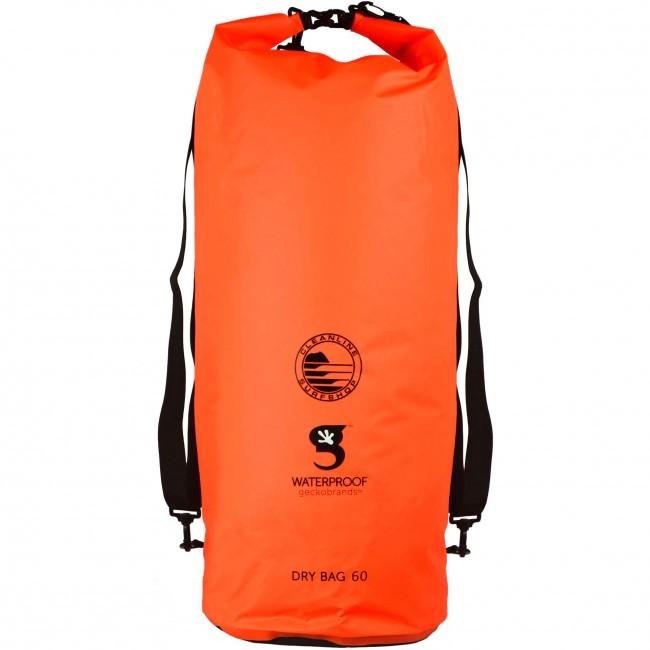 Geckobrands X Cleanline Tarpaulin 60l Dry Bag Orange