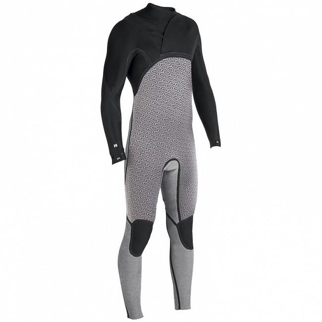 f5a6bc53f25 Vissla North Seas 3/2 Chest Zip Wetsuit - Brain Fuzz Lining