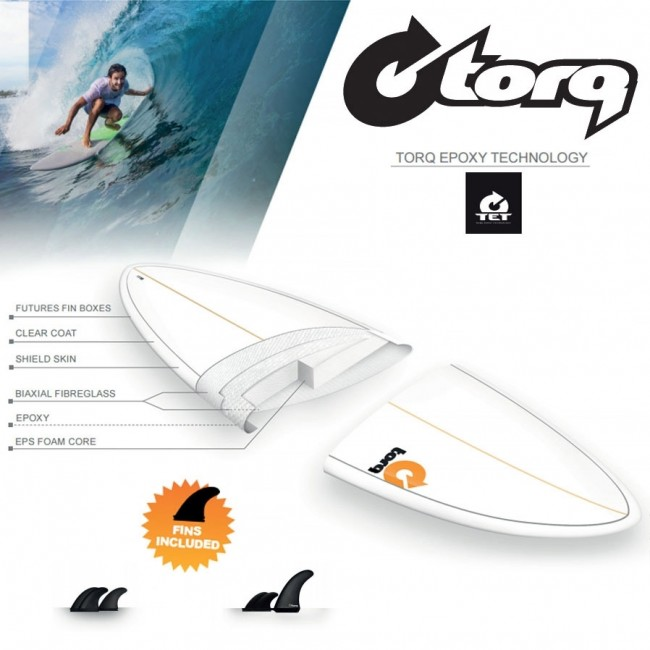 Torq Mini Longboard 8 0 X 22 X 3 Surfboard Blue White Cleanline Surf
