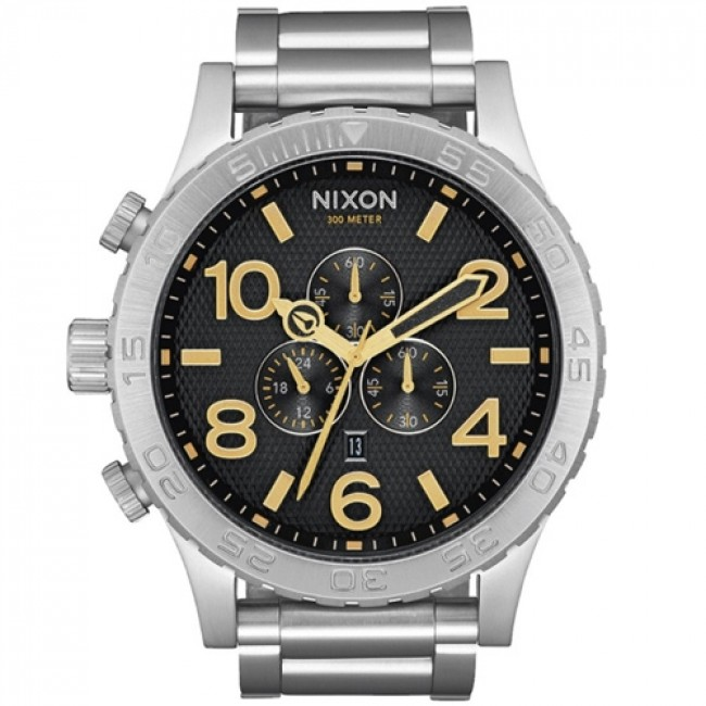 nixon 51 30 chrono black sted gold cleanline surf