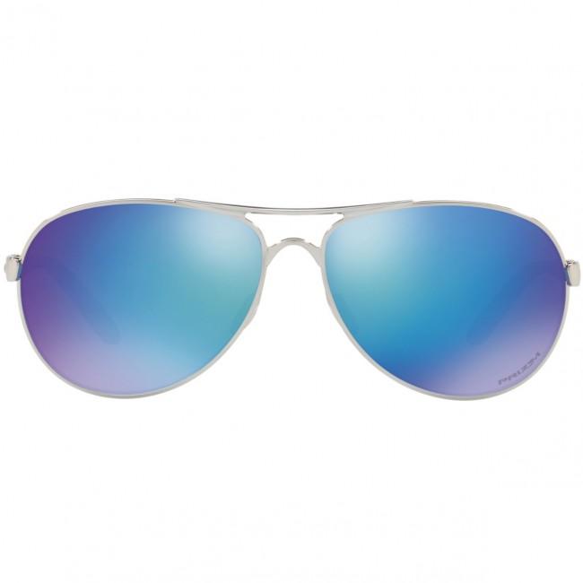 af156493f3 Oakley Women s Feedback Polarized Sunglasses - Polished Chrome Prizm  Sapphire