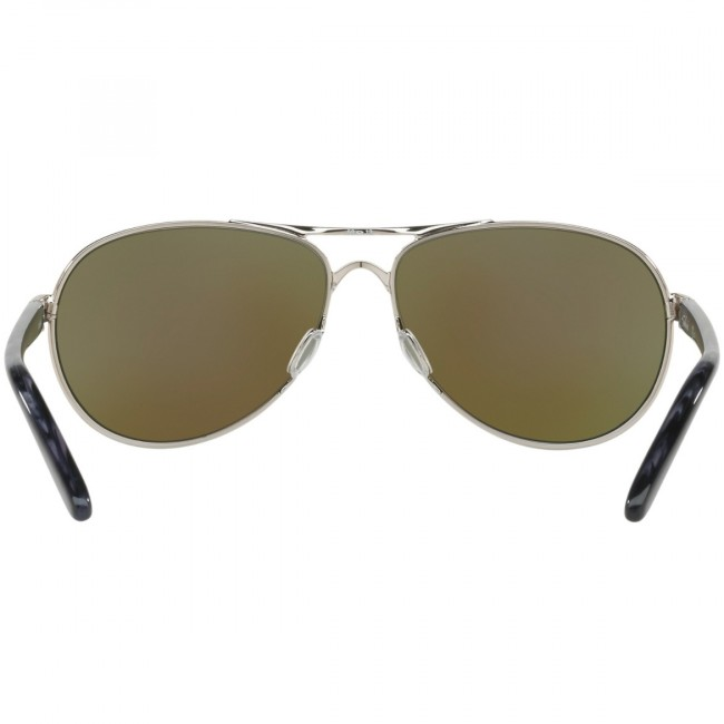 2471b07b2ba9a Oakley Women s Feedback Polarized Sunglasses - Polished Chrome Prizm  Sapphire