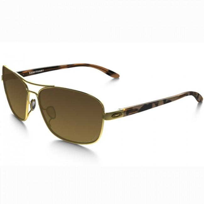 4206e176ecf46 Oakley Women s Sanctuary Polarized Sunglasses - Polished Gold Brown Gradient  - Cleanline Surf