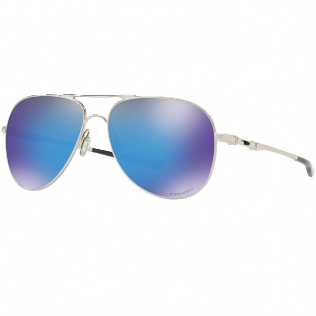 088ad0032a Oakley Elmont Sunglasses - Polished Chrome Prizm Sapphire - Cleanline Surf