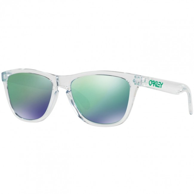 9096865676 Oakley Frogskins Crystal Sunglasses - Polished Clear Jade Iridium -  Cleanline Surf