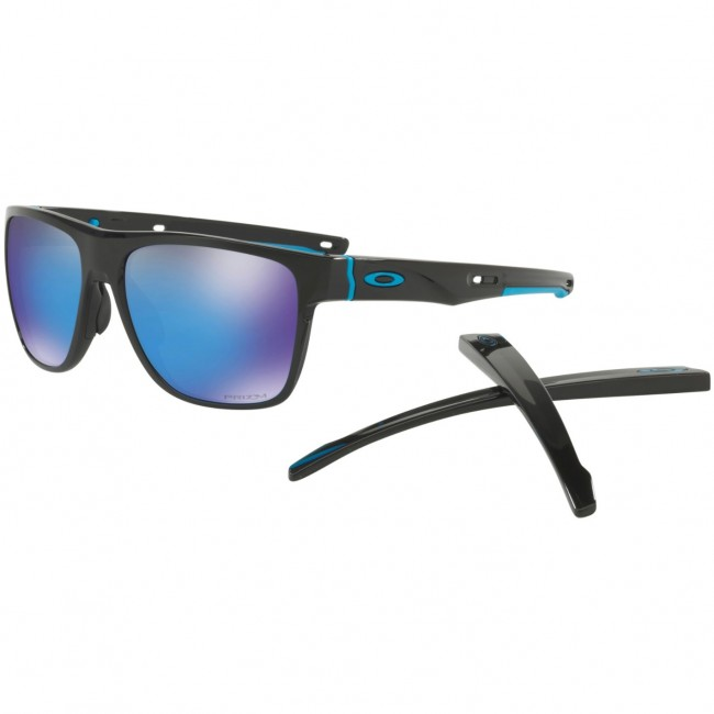 e8ddda3a7b Oakley Crossrange XL Sunglasses - Polished Black Prizm Sapphire Iridium -  Cleanline Surf