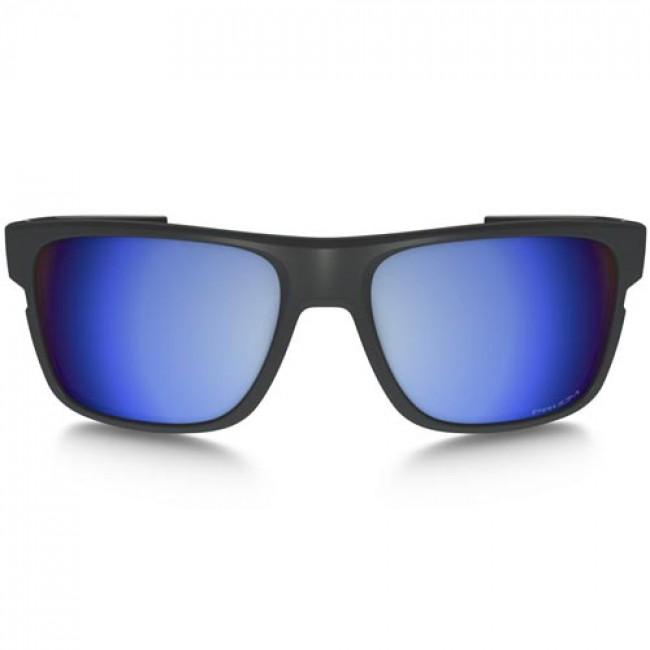 7805a3d6e78 Oakley Crossrange Polarized Sunglasses - Matte Dark Grey Prizm Deep Water