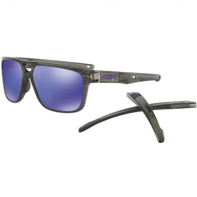 Oakley Crossrange Patch Sunglasses - Grey Smoke Violet Iridium - Cleanline  Surf 07ad6afec5