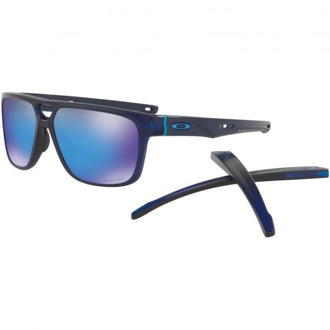 2603322cb53 ... purchase oakley crossrange patch sunglasses matte translucent blue  prizm sapphire iridium 6ac3a d3e74
