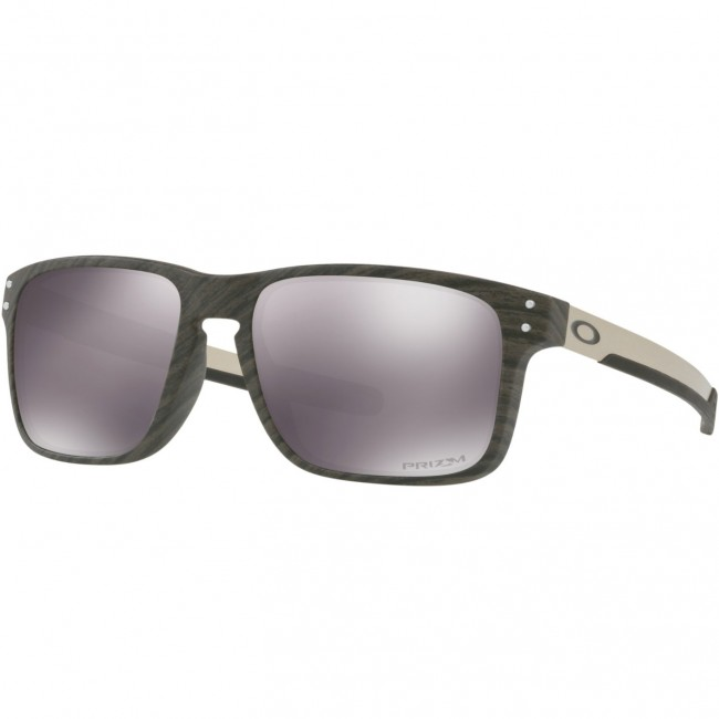 eb421a7b971b Oakley Holbrook Mix Sunglasses - Woodgrain/Prizm Black - Cleanline Surf