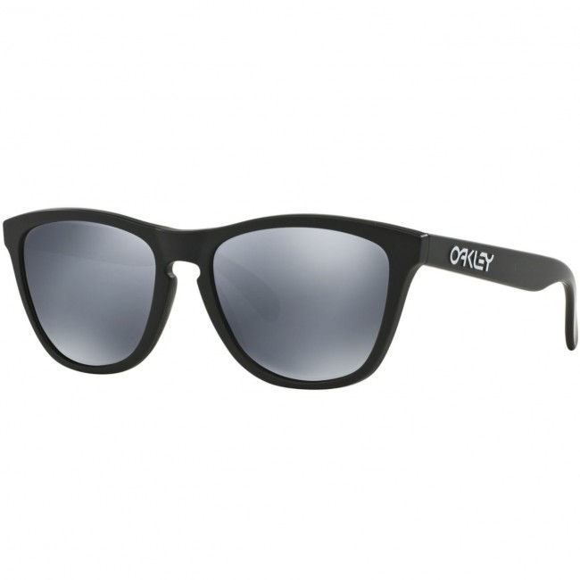 76ecbb672d Oakley Frogskins Polarized Sunglasses - Matte Black Black Iridium -  Cleanline Surf