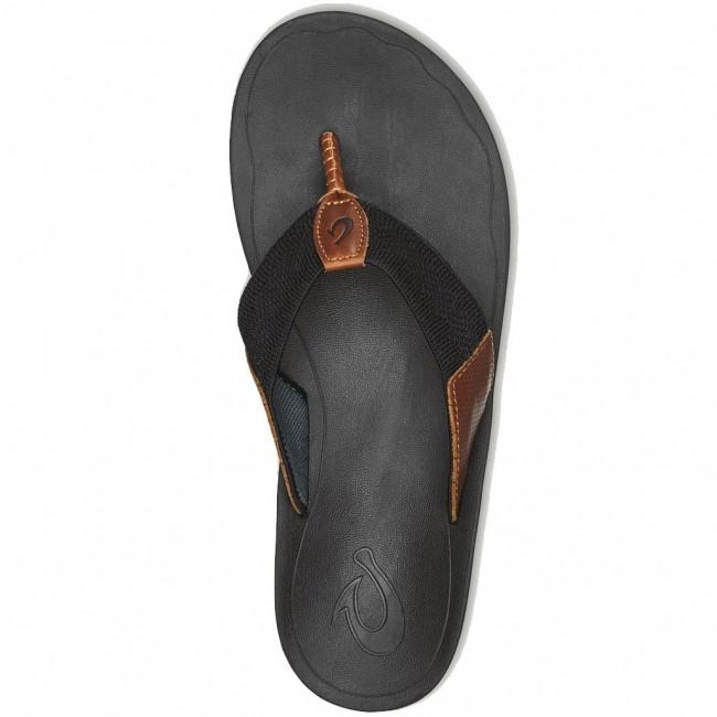 5ee4906f7617 Olukai Nohona Ulana Sandals - Black - Cleanline Surf