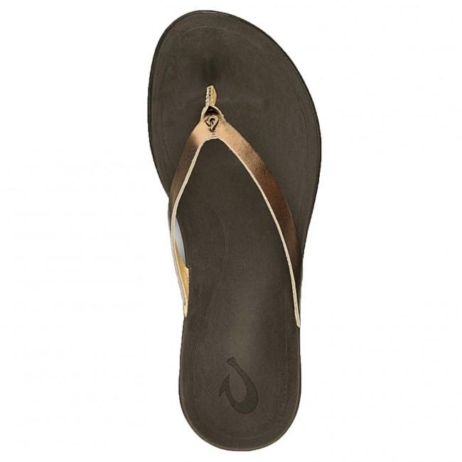f78bafe696226 Olukai Women s Ho opio Leather Sandals - Bronze Dark Java - Cleanline Surf