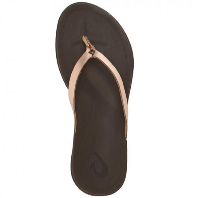 d9ec58cf1418a Olukai Women s Ho opio Leather Sandals - Copper Dark Java - Cleanline Surf