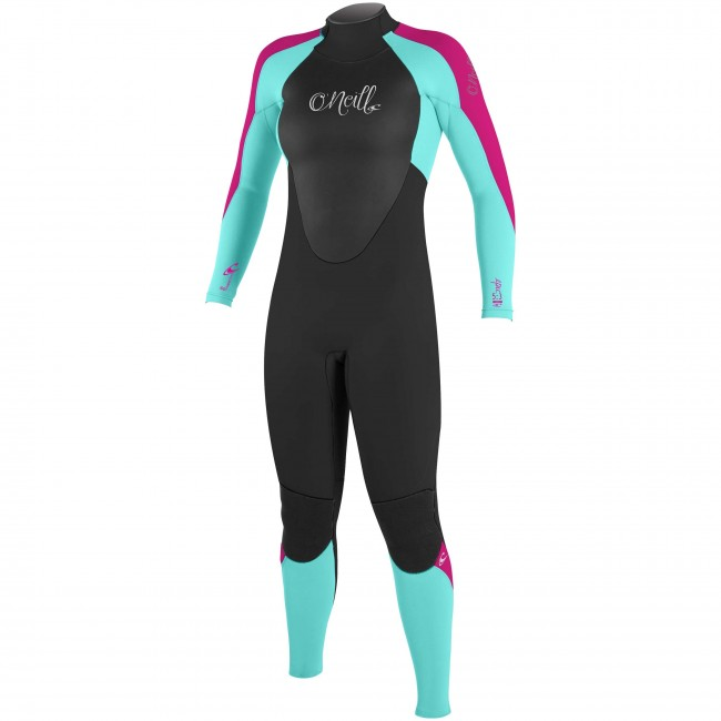 890323dd30 O Neill Youth Girls Epic 4 3 Wetsuit - Black Seaglass Berry