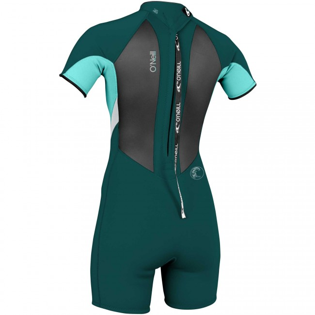 O Neill Women s Bahia 2 1 Short Sleeve Spring Wetsuit - Teal Seaglass 54337cbe1