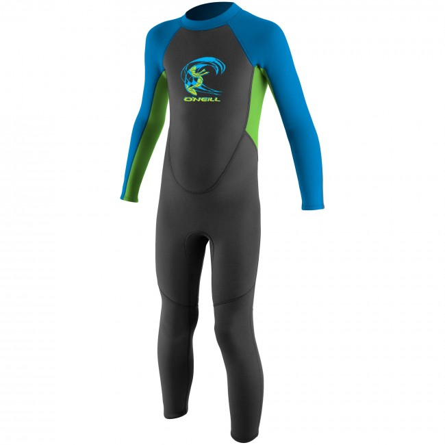 O Neill Toddler Reactor 2mm Wetsuit - Graphite DayGlo Bright Blue a05beb6af