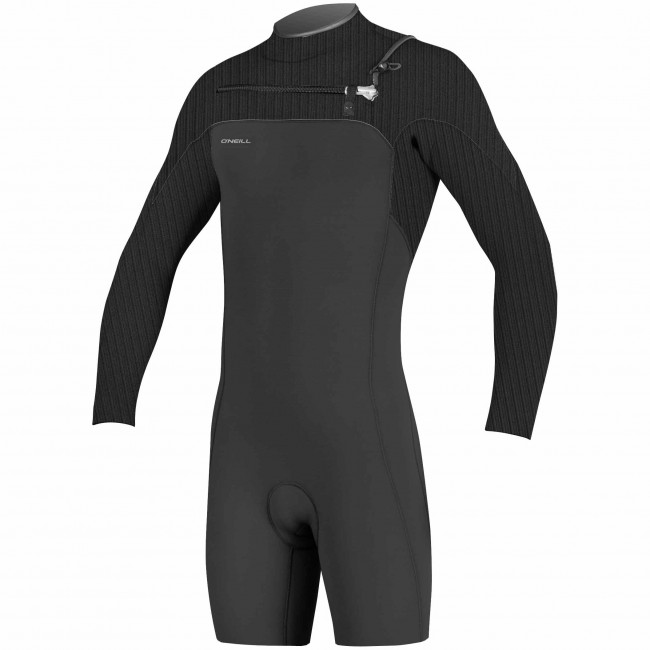 86e4111638 O Neill HyperFreak 2mm Long Sleeve Chest Zip Spring Wetsuit - Black