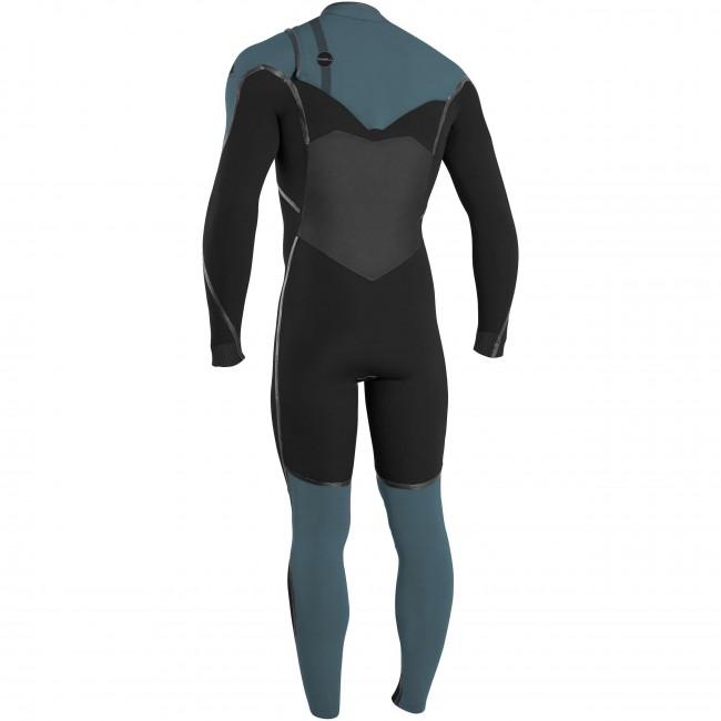 70c5371a6b O Neill Psycho Tech 4 3 Chest Zip Wetsuit - Black Dusty Blue