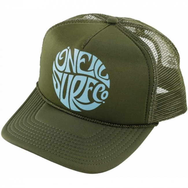 O Neill Women s Beach Day Trucker Hat - Olive - Cleanline Surf c64c5c008c