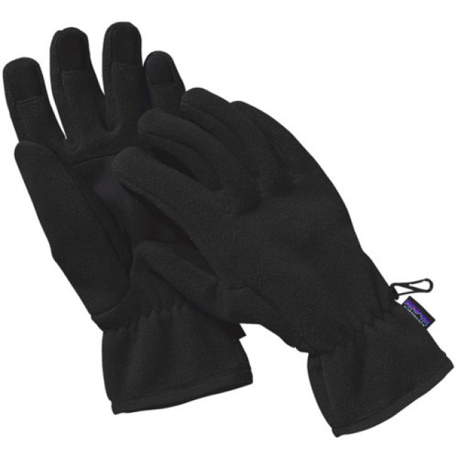 06172038781 Patagonia Synchilla Fleece Gloves - Black - Cleanline Surf