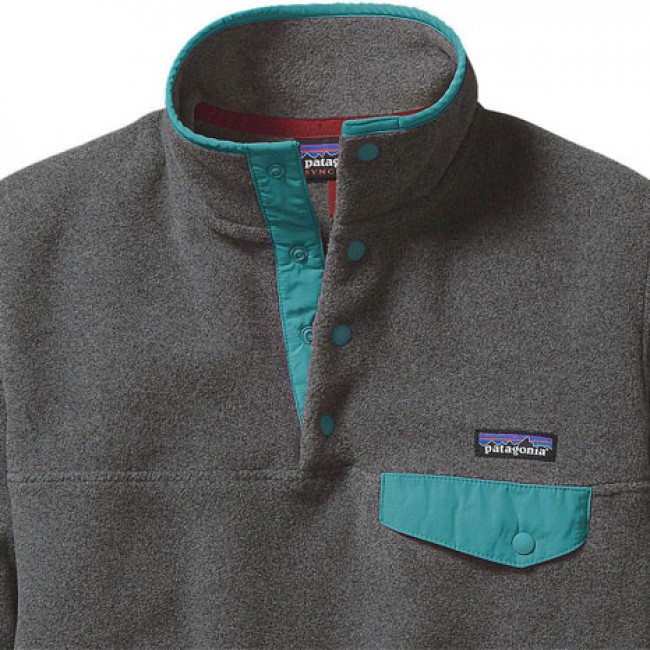 cc6f22d287c Patagonia Women s Lightweight Synchilla Snap-T Fleece Pullover -  Nickel Epic Blue
