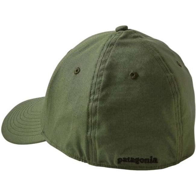 b02221dc7d2 Patagonia Fitz Roy Trout Stretch Fit Hat - Buffalo Green - Cleanline ...