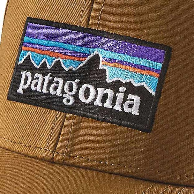 18b402c4 Patagonia P-6 Logo Stretch Fitted Hat - Tapenade - Cleanline Surf