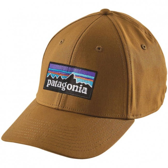 Patagonia P-6 Logo Stretch Fitted Hat - Tapenade - Cleanline Surf 4061c354ea4