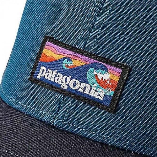 5a3b55af3bf95 Patagonia Board Short Label LoPro Trucker Hat - Big Sur Blue ...