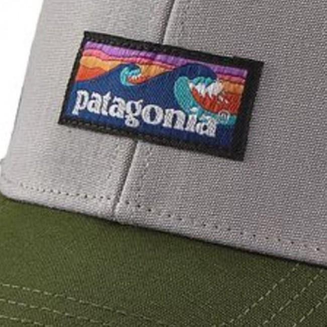 507376d3c15c5 Patagonia Board Short Label LoPro Trucker Hat - Drifter Grey ...