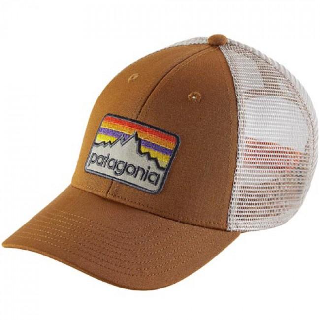 Patagonia Line Logo Badge LoPro Trucker Hat - Bear Brown - Cleanline Surf 2781b90edda