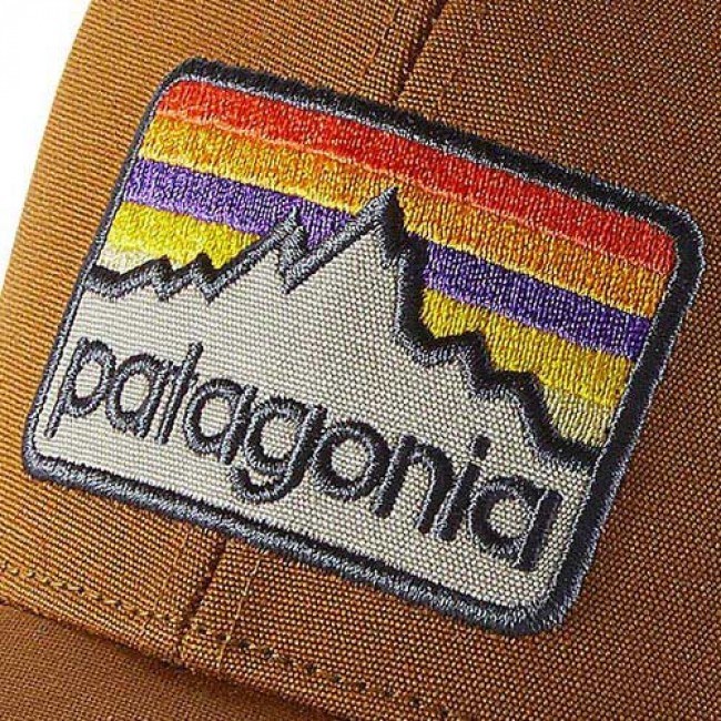 46ac47ab0e698 Patagonia Line Logo Badge LoPro Trucker Hat - Bear Brown - Cleanline ...