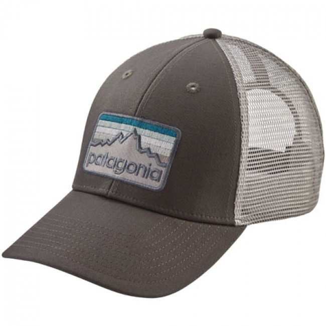 e468c895 Patagonia Line Logo Badge LoPro Trucker Hat - Forge Grey - Cleanline Surf