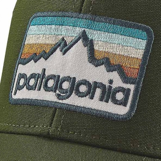 278df8a4654 Patagonia Line Logo Badge LoPro Trucker Hat - Glades Green ...
