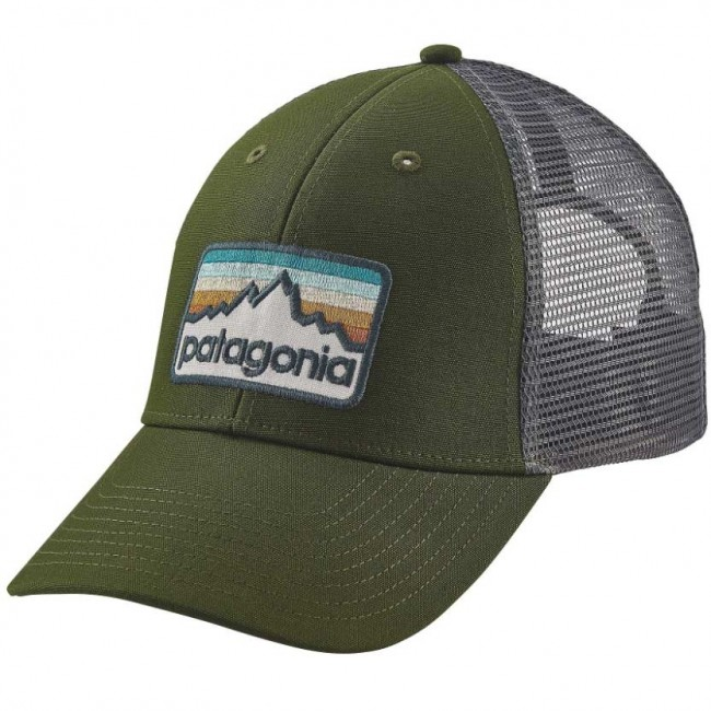4226f4712be Patagonia Line Logo Badge LoPro Trucker Hat - Glades Green - Cleanline Surf