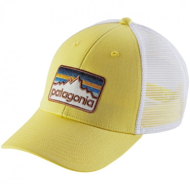 8a6c2ce3557c6 Patagonia Line Logo Badge LoPro Trucker Hat - Yoke Yellow - Cleanline Surf