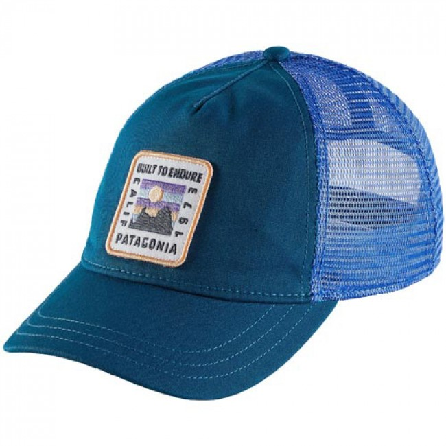 f2c531b5 Patagonia Women's Ridge Ride Patch Layback Trucker Hat - Big Sur Blue -  Cleanline Surf