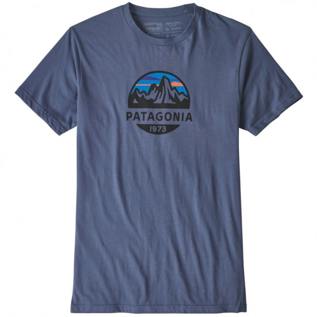 first look autumn shoes new high Patagonia Fitz Roy Scope Organic T-Shirt - Dolomite Blue