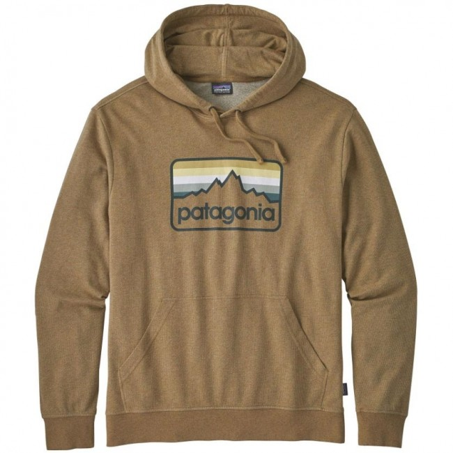 bc6ae04a3f Patagonia Logo Badge Lightweight Hoodie - Coriander Brown